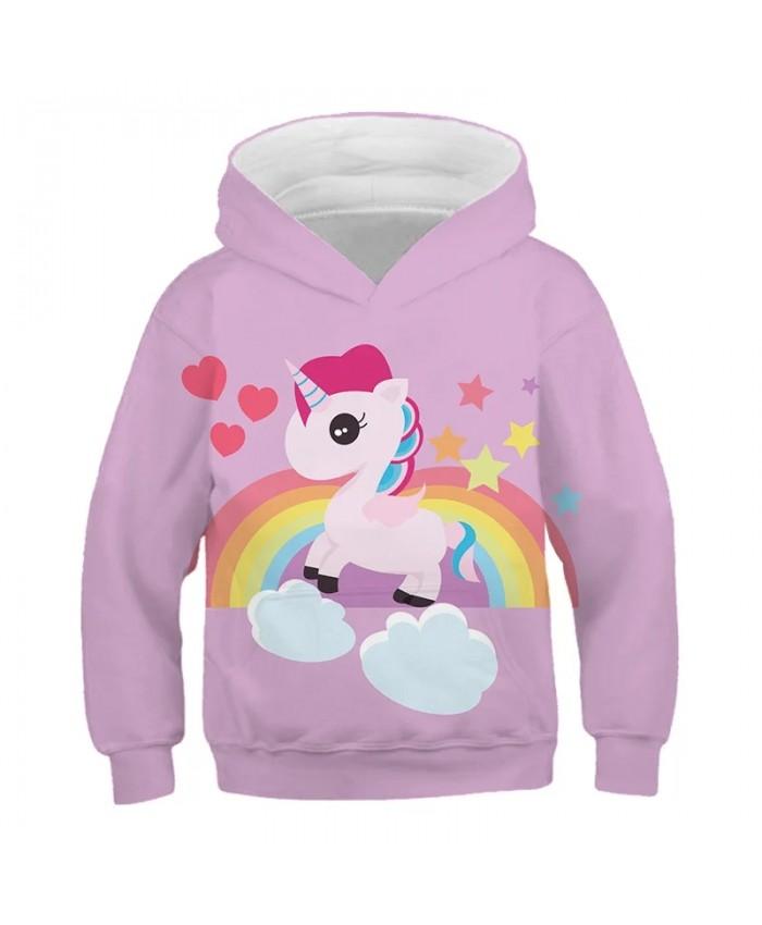 Funny 3D Print Pink Unicorn Toddler Baby Boys Sweatshirt Casual Hoodies Autumn Baby Boy Clothes Fantasy Rainbow Girl Clothes