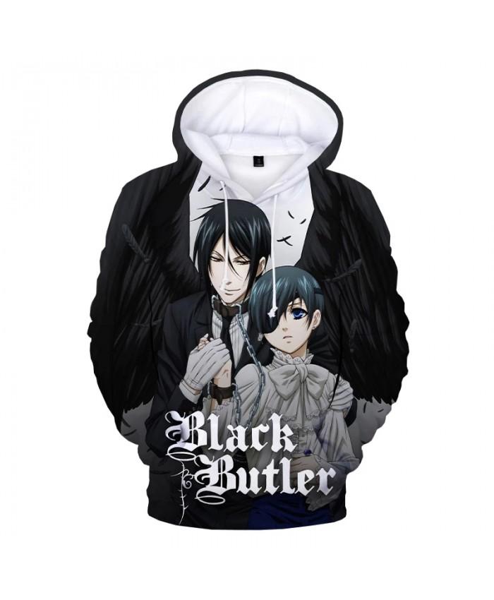 New Black Butler 3D Print Hoodie Kids Fashion Casual Cartoon Anime Pullover Sweatshirts Men Women Harajuku Streetwear Hoodies