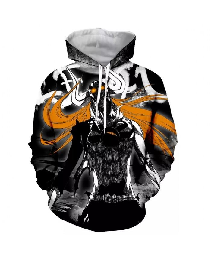 Bleach Fashion Long Sleeves 3D Print  Hoodies Sweatshirts Jacket Men women