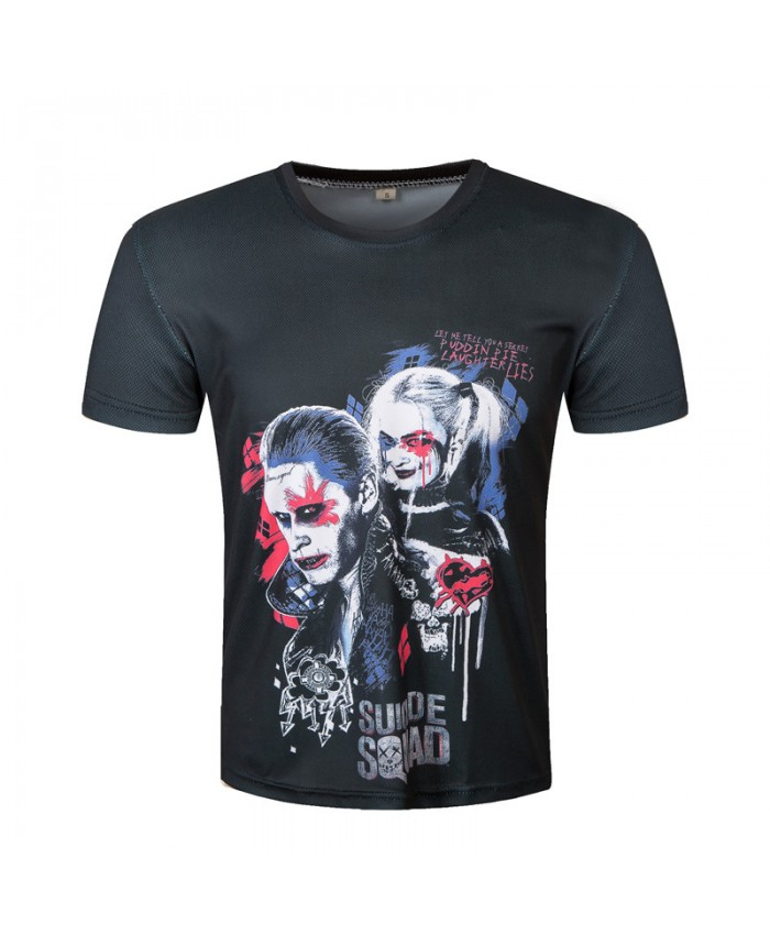 2021 3D Suicide Squad T-shirts Harley Quinn Joker T shirt Men Short Sleeve Black Printed Short Sleeve O-Neck Tops