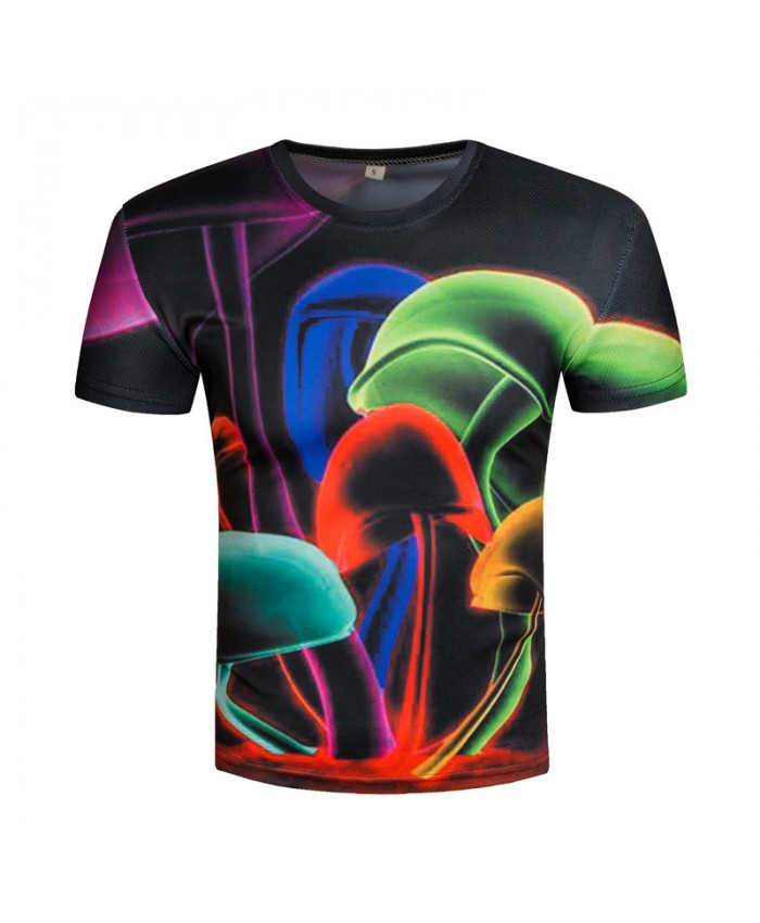 2019 3D T shirts Bright Men Short Sleeve T-shirts Printed 3D Funny Top Tees Novelty Summer Harajuku Streetwear Male