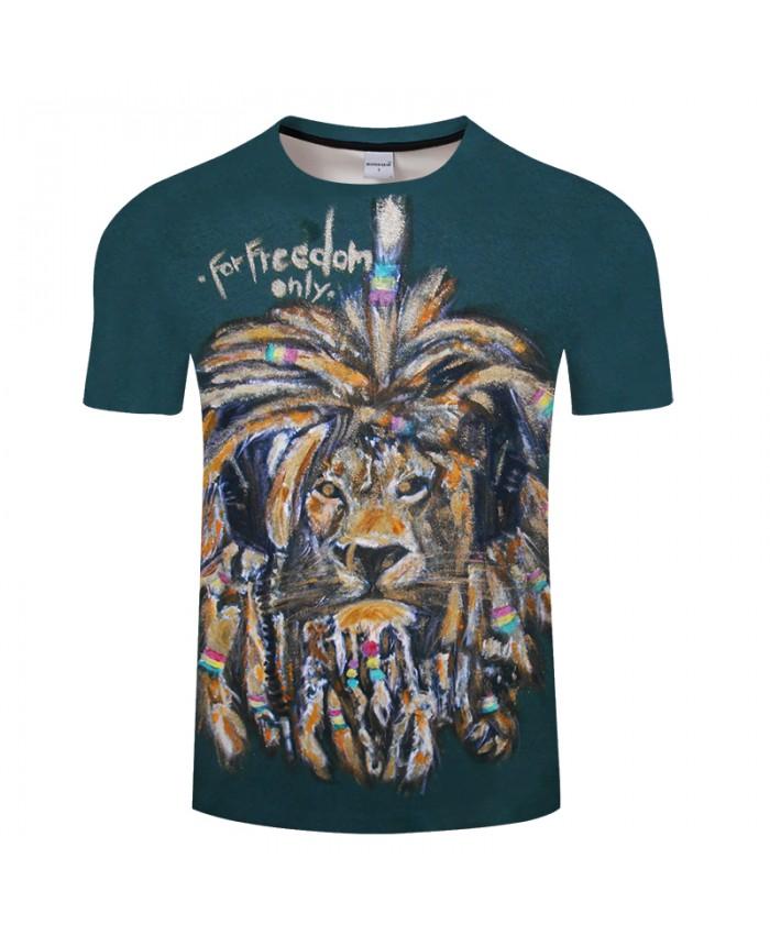 2021 3D Tshirts Men Lion Print Women Summer t shirt Short Sleeve Casual T-shirt Male Animal Tops&Tees Drop Ship
