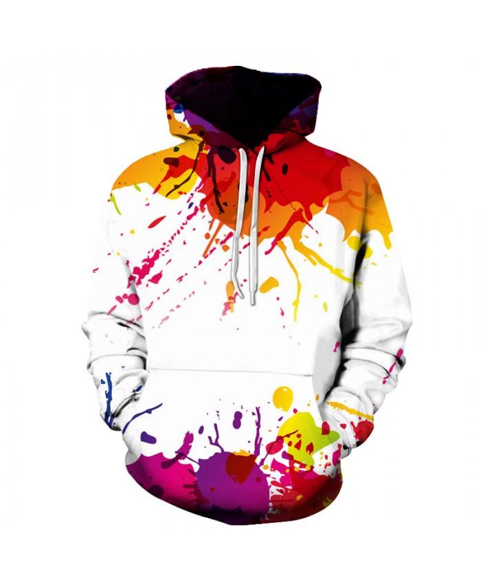 2019 Autumn Winter Cap Hoodies Men/women Hip Pop Pullovers Print Paint Color Blocks Hoody 3d Graffiti Sweatshirts Sportwear