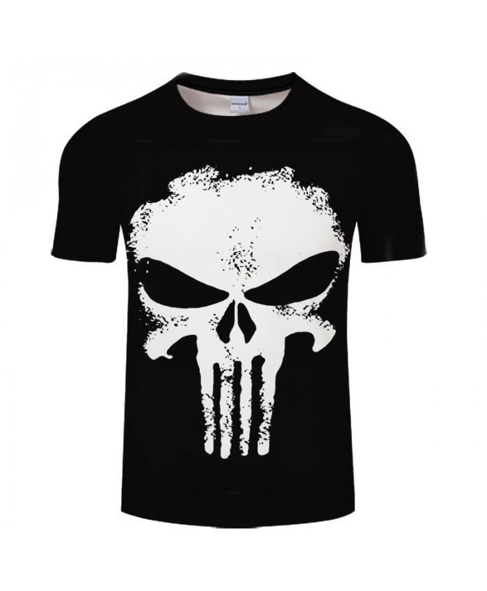 2021 Brand Clothing 3D T Shirt Men Punisher Design Summer Style Men T Shirt Fashion Plus Size Hip Hop Funny T Shirts Brand Top