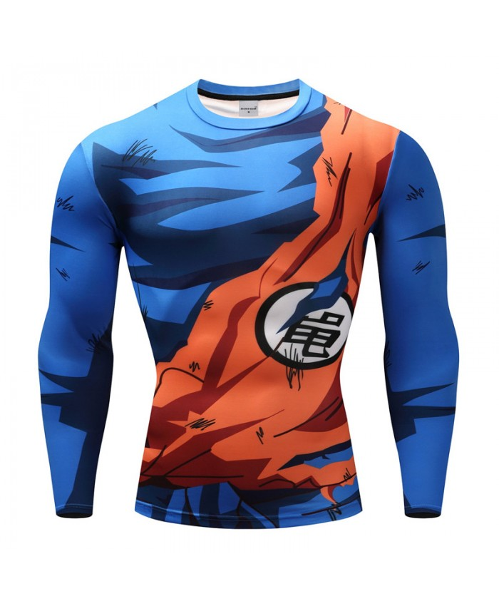 2018 Dragon Ball T shirts Men Anime Fitness T-shirts Cosplay Compression Tshirts Bodybuilding Tops Tees B