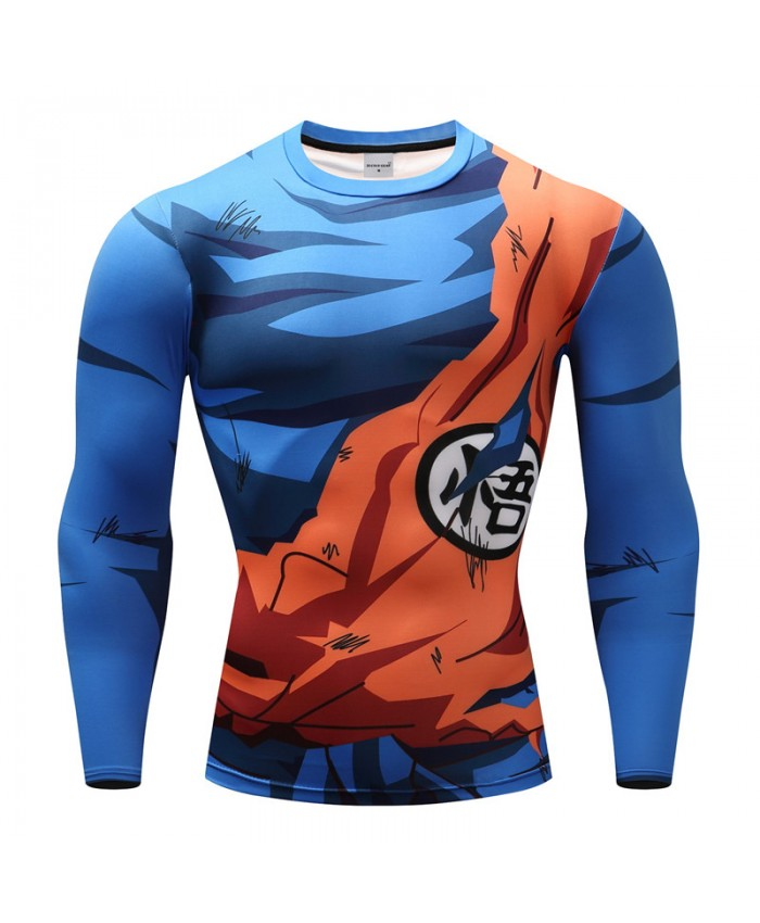2021 Dragon Ball T shirts Men Anime Fitness T-shirts Cosplay Compression Tshirts Bodybuilding Tops Tees C