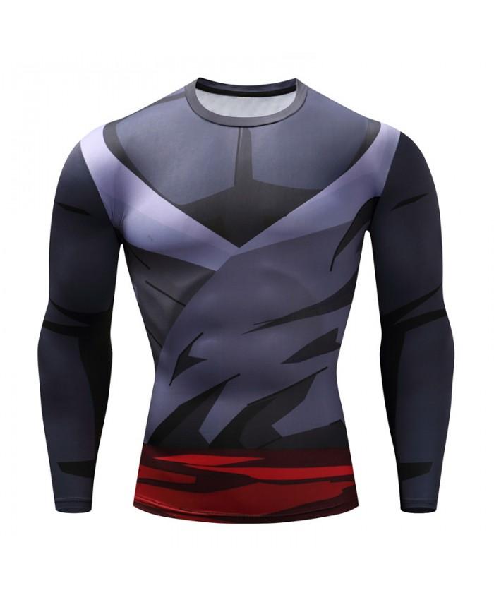 2021 Dragon Ball T shirts Men Anime Fitness T-shirts Cosplay Compression Tshirts Bodybuilding Tops Tees E