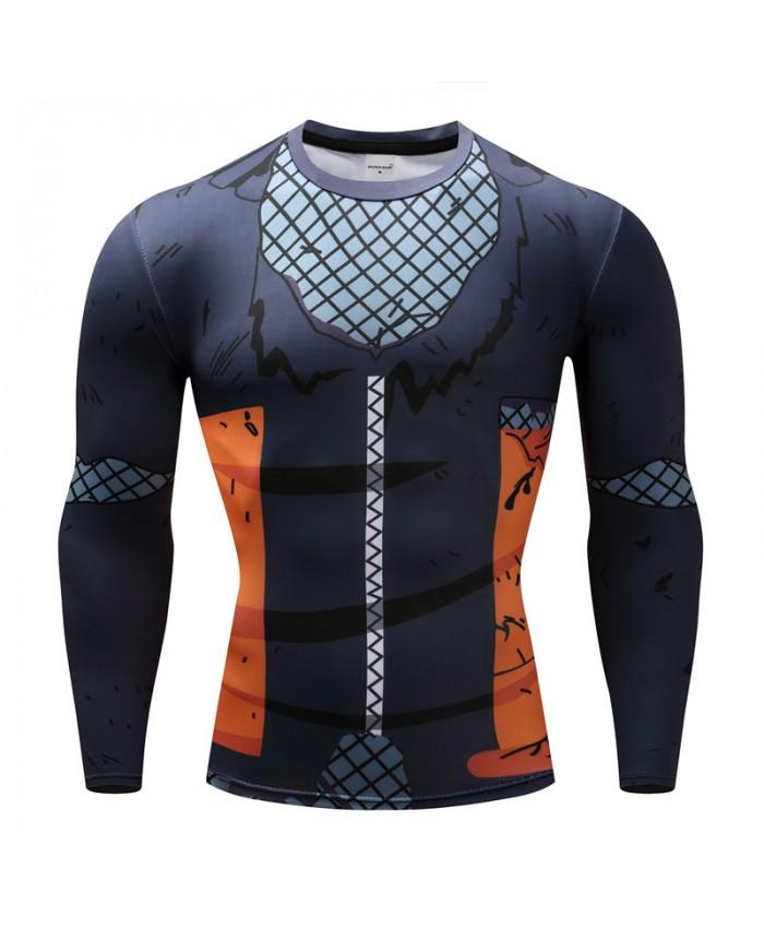 2018 Dragon Ball T shirts Men Anime Fitness T-shirts Cosplay Compression Tshirts Bodybuilding Tops Tees G