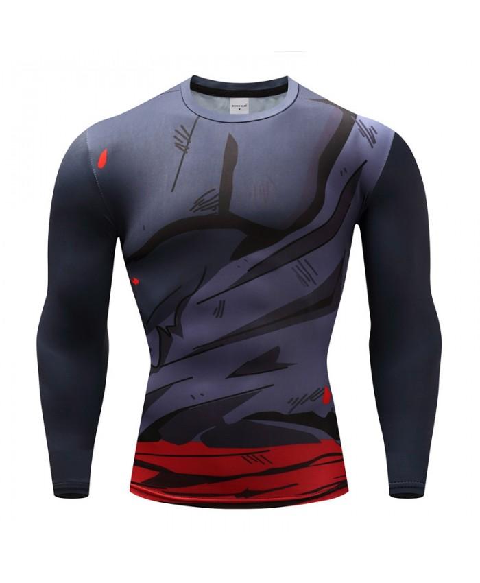 2021 Dragon Ball T shirts Men Anime Fitness T-shirts Cosplay Compression Tshirts Bodybuilding Tops Tees H