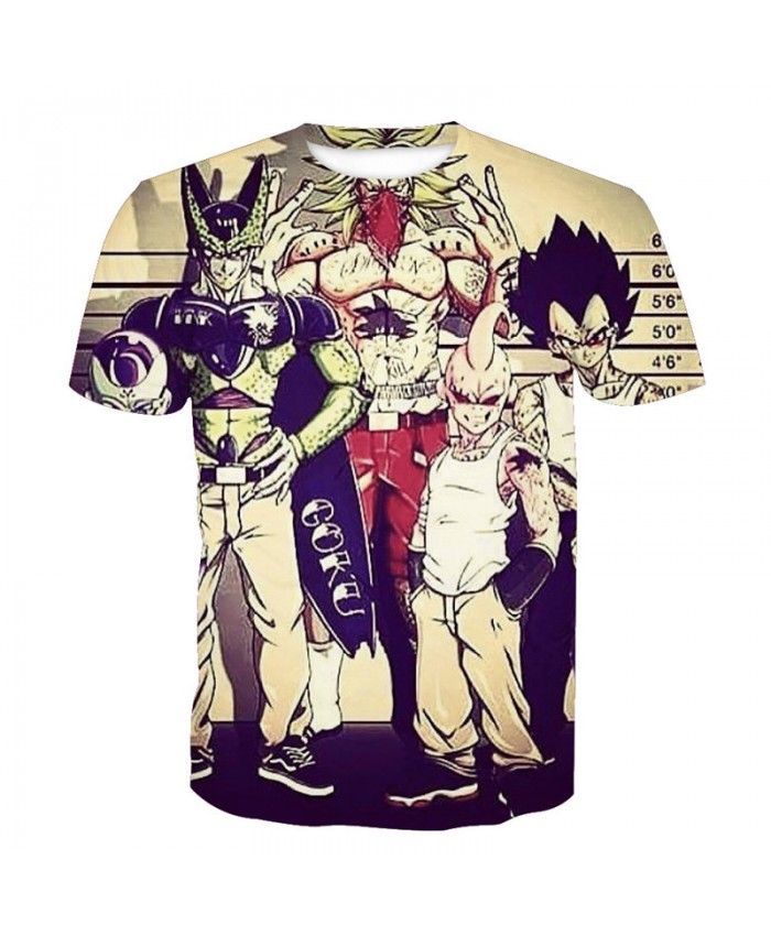 2018 Dragon Ball Z t-shirt Men Anime tshirt 3D Printed funny t shirts Comic Tops 6xl Camiseta harajuku Tee Boy Pokemon Costume Homme A