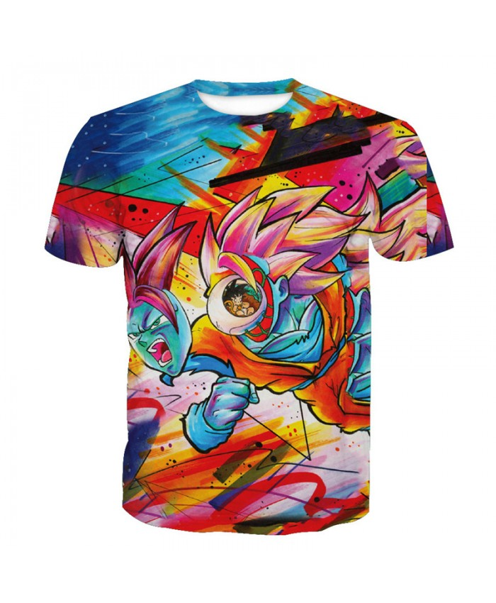 2018 Dragon Ball Z t-shirt Men Anime tshirt 3D Printed funny t shirts Comic Tops 6xl Camiseta harajuku Tee Boy Pokemon Costume Homme H