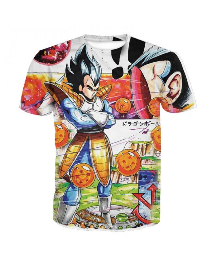 2018 Dragon Ball Z t-shirt Men Anime tshirt 3D Printed funny t shirts Comic Tops 6xl Camiseta harajuku Tee Boy Pokemon Costume Homme N