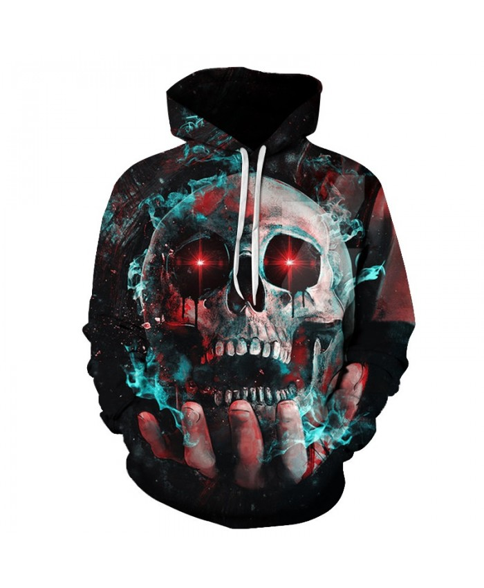 2019 Hoodie Men Women Fashion Winter Spring Sportswear Hip Hop Tracksuit Brand Hooded Sweatshirt 3d Skull print tops