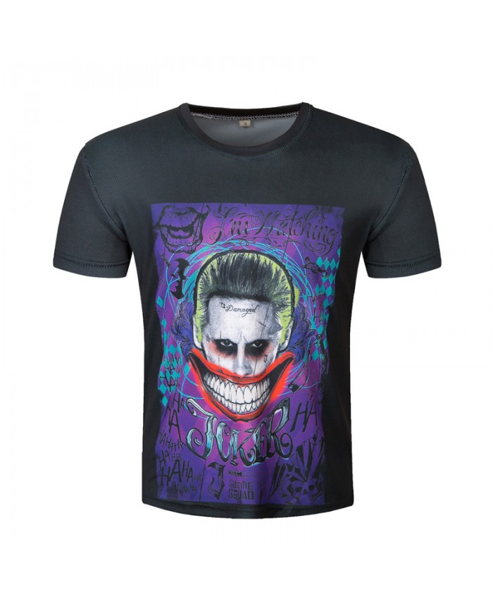 2021 Joker T-shirt Men Suicide Squad T shirt Black Tops Funny Printed Camisetas Male Summer Brand Clothing Male tees
