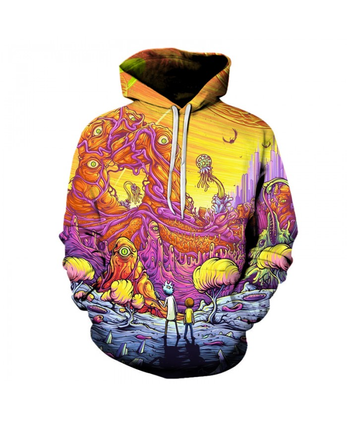2018 New Arrival Rick and Morty Hoodie 3D Hoodies Pullover Hoodie Unisex 6XL Plus Size Drop Shipping