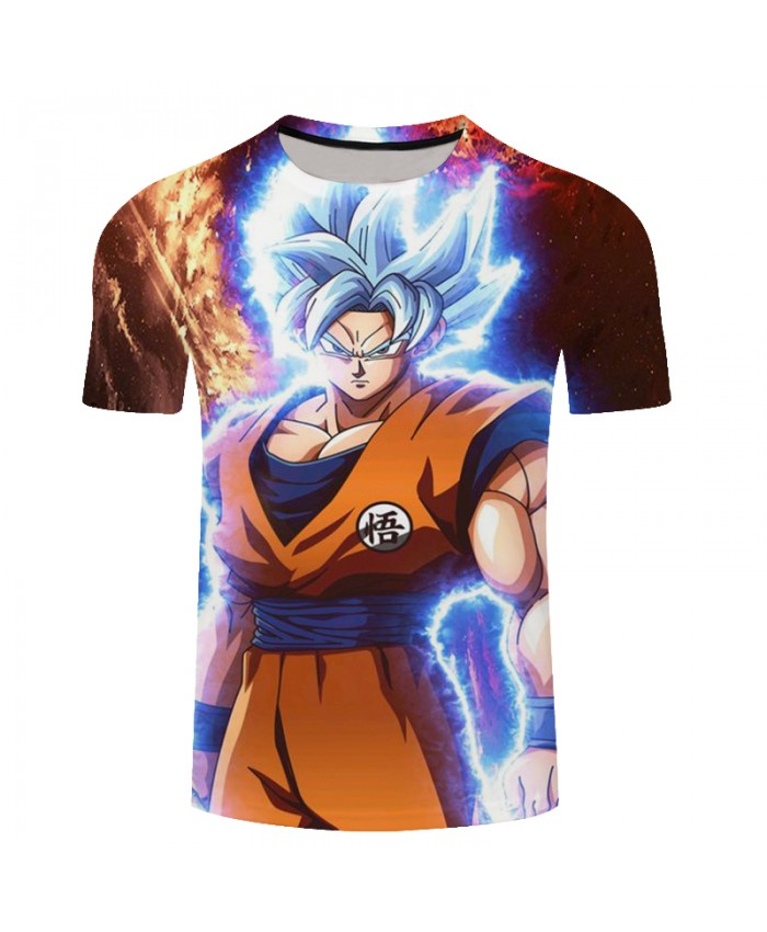 2021 New Summer Fashion Cartoon T Shirt Men/Women Anime Dragon Ball Funny 3d Print Goku Unisex Top Casual Short T-Shirt C