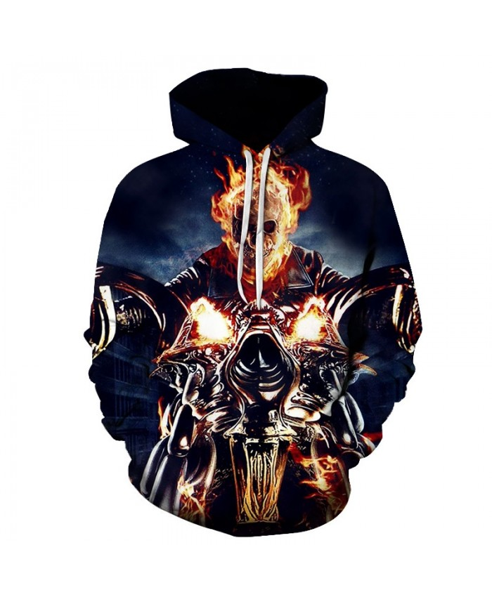 2019 Skull 3D Printed Hoodies Men Women Sweatshirts Hooded Pullover Brand Qaulity Tracksuits Boy Coats Fashion Outwear jacket