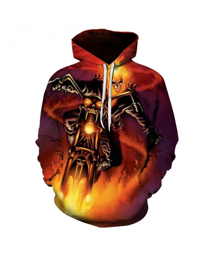 2019 Skull Soul chariot 3D Hoodies Men Women Sweatshirts Hooded Pullover Tracksuits Boy Coats Fashion Outwear jacket The big size B