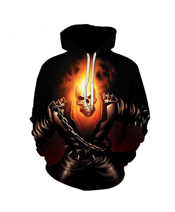 2019 Skull Soul chariot 3D Hoodies Men Women Sweatshirts Hooded Pullover Tracksuits Boy Coats Fashion Outwear jacket The big size C