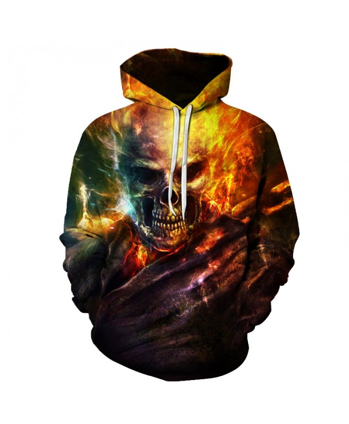 2019 Skull Soul chariot 3D Hoodies Men Women Sweatshirts Hooded Pullover Tracksuits Boy Coats Fashion Outwear jacket The big size E