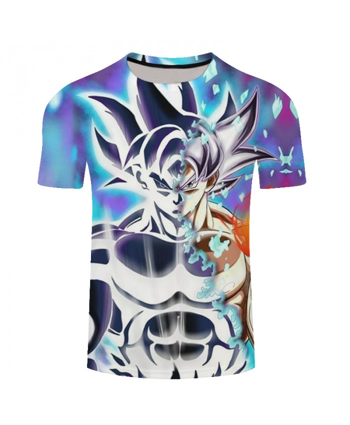 2018 Summer Men Dragon Ball T Shirt Funny Goku 3D Print T-Shirt Men New Cartoon Anime DragonBall Short Sleeve Brand Tshirt