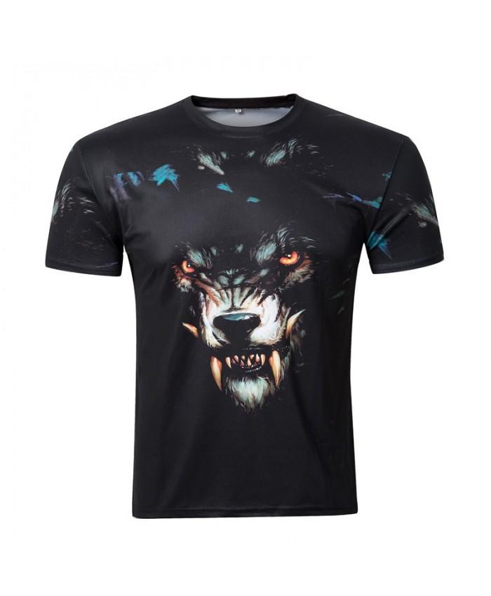 2018 summer new arrival 3D t shirt men Black vicious dog print t-shirt Casual tee shirt homme plus-size clothing men