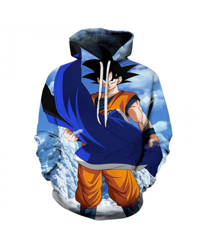 2019 3D Dragon Ball Hand Cloak Men Pullover Sweatshirt Pullover Hoodie Casual Hoodies Fashion Men Tracksuits Hoodie