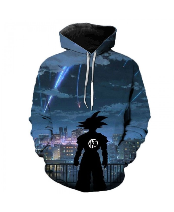 2021 3D Dragon Ball Z Goku Harajuku Hoodies Men/Women Hooded Sweatshirts Plus Size Hoodies Cartoon Boy/Girls Polluver