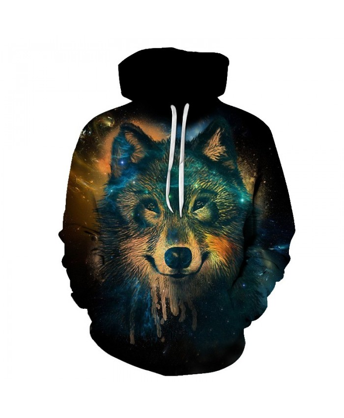 2021 3D Hoodies Men Clothing Streetwear Sweatshirts Wolf Hoody Anime Tracksuits Harajuku Pullover Hot Drop Ship TOPS