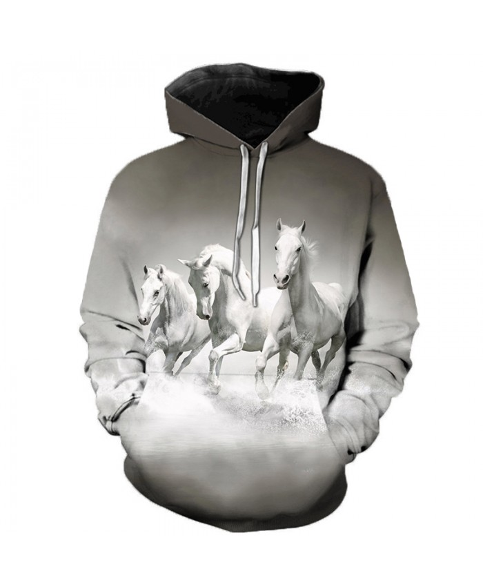 2021 Animal Horse Creative 3D Printed Hooded Sweatshirts Men Women Fashion Casual Harajuku Outerwear Hip Hop Streetwear Hoodies C