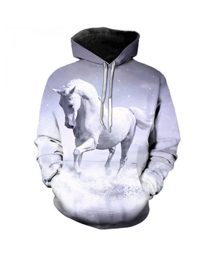 2021 Animal Horse Creative 3D Printed Hooded Sweatshirts Men Women Fashion Casual Harajuku Outerwear Hip Hop Streetwear Hoodies F