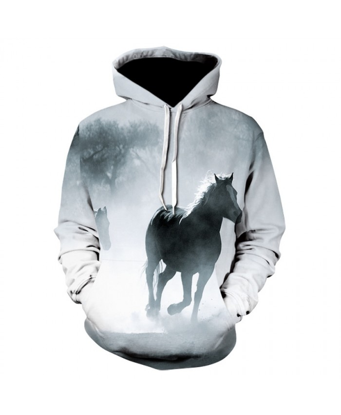 2021 Animal Horse Creative 3D Printed Hooded Sweatshirts Men Women Fashion Casual Harajuku Outerwear Hip Hop Streetwear Hoodies H