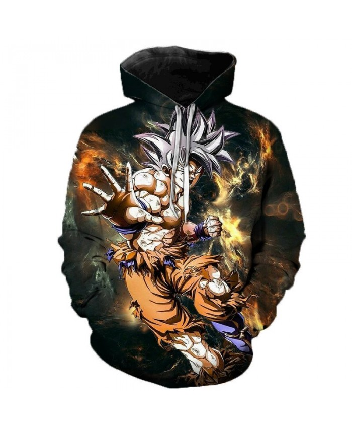 2019 Anime Dragon Ball Super 3D Print Hoodies Men Women Spring Outerwear Harajuku 3D Kid Goku Hoodie Sweatshirts Men Puls Size I