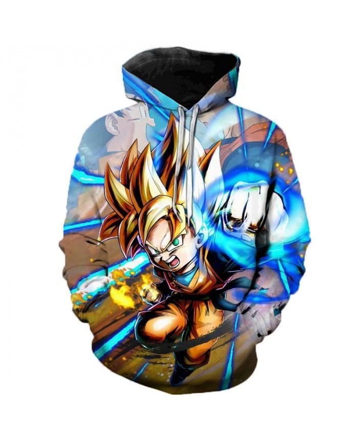 2019 Anime Dragon Ball Super Hoodie Male 3D Sweatshirts Super Saiyan Goku Printed Outwear Teen Boy Cartoon Hoody Pullover D