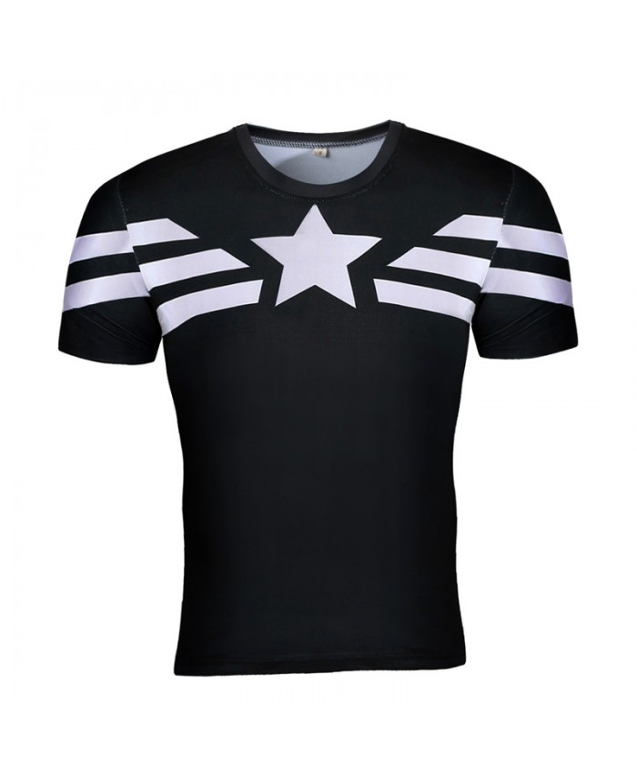 2019 Captain America Punisher 3D Cosplay T shirts Compression Men Tops Crossift T-shirts Male Tees