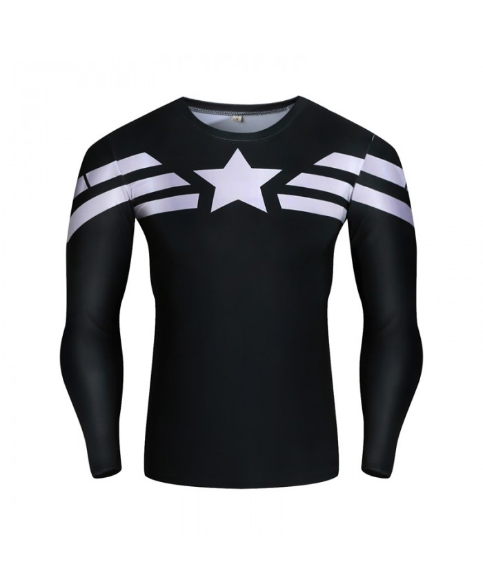 2021 Captain America T shirts Compression Men Tops High Quality Tight Mens Tees Male Superhoro 3D Printed Funny