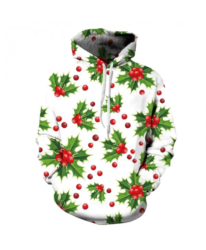 2021 Christmas hoodies sweatshirt men's floral print 3d pullovers unisex hip hop tracksuit plus size casual tops
