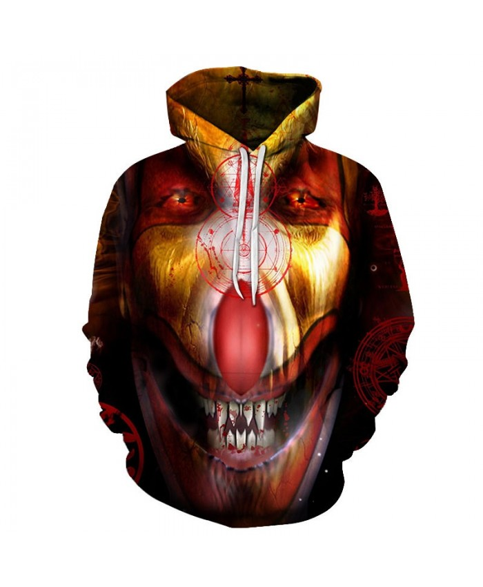 2019 Desolation Eyes Clown 3D Printed Men Pullover Sweatshirt Clothing for Men Custom Pullover Hoodie Men Streetwear