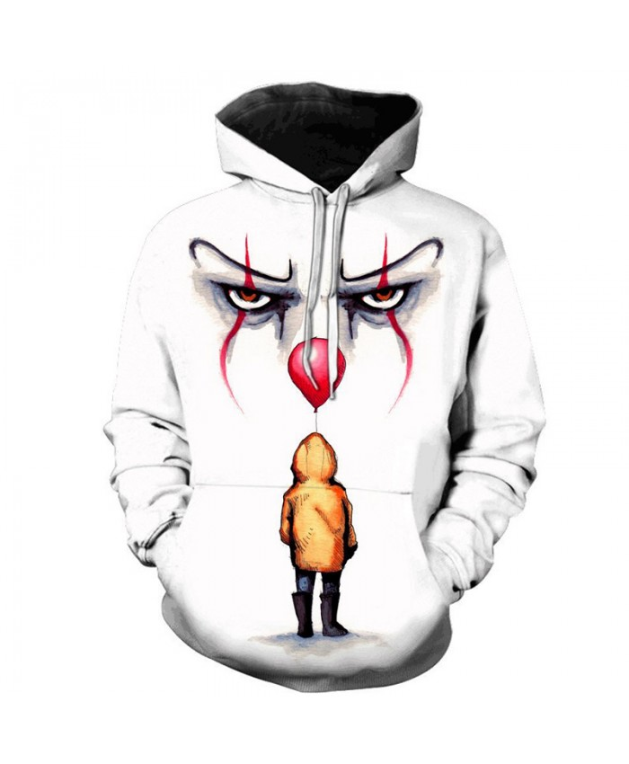 2019 Horror Movie Clown 3D Printed Hooded Sweatshirts Men Women Fall Winter Fashion Casual Hoodies Streetwear Plus Size Pullover