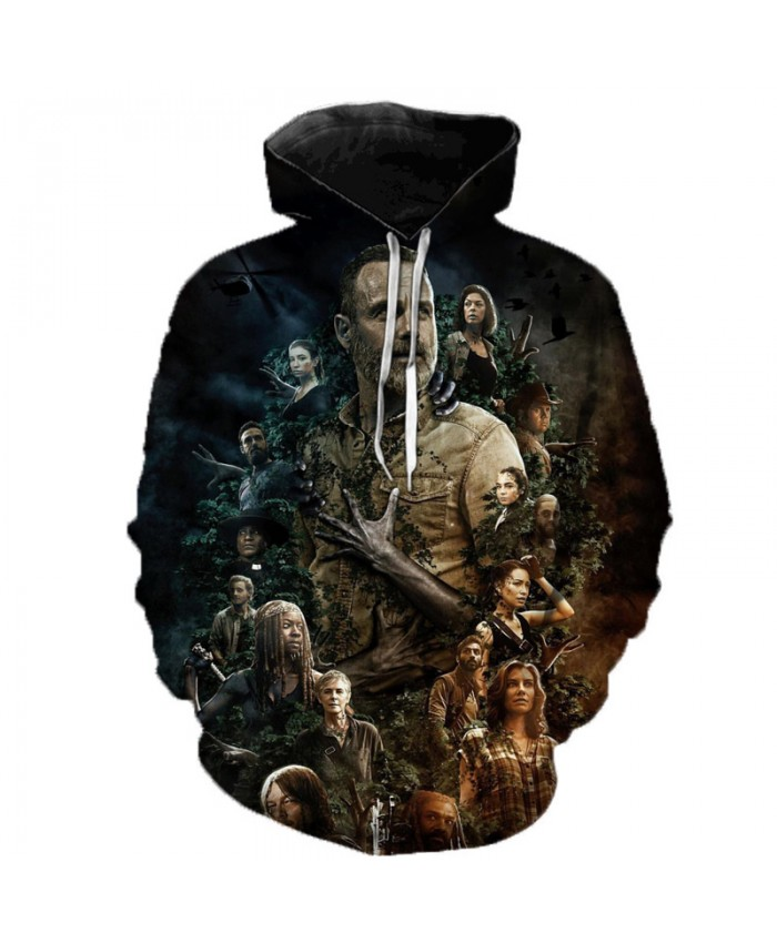 2019 Hot Sale Men Women Hooded Sweatshirt 3D Print TV Drama The Walking Dead Hoodie Long Sleeve Top Harajuku Streetwear Pullover
