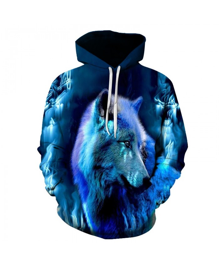 2021 Mens Hoodies wolf Print Wolf Mutual Dependence Warm Hot Sale Sweatshirts Harajuku Men Women O-neck Hooded Brand Pullover