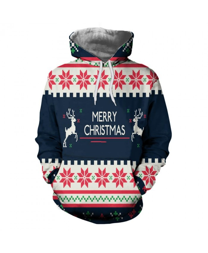 2019 Merry Christmas Men Women 3D Sweatshirts Hoodies Funny Santa Hoody Fashion Brand Clothing Hoodie Tops
