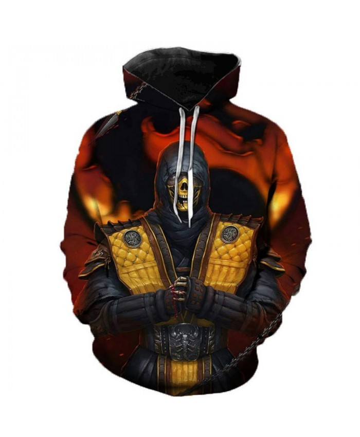 2019 Mortal Kombat 11 3D Printed Hoodies Men Women Hooded Sweatshirts Spring Outerwear Plus Size Unisex Polluver