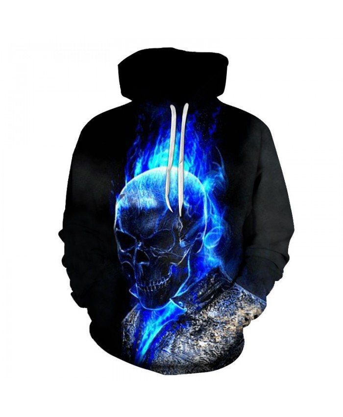 2021 Motorcycle & Flame Printed Hoodies Unisex Mens Skull Hoodie Autumn Sweatshirt Pullover Streetwear Drop Ship