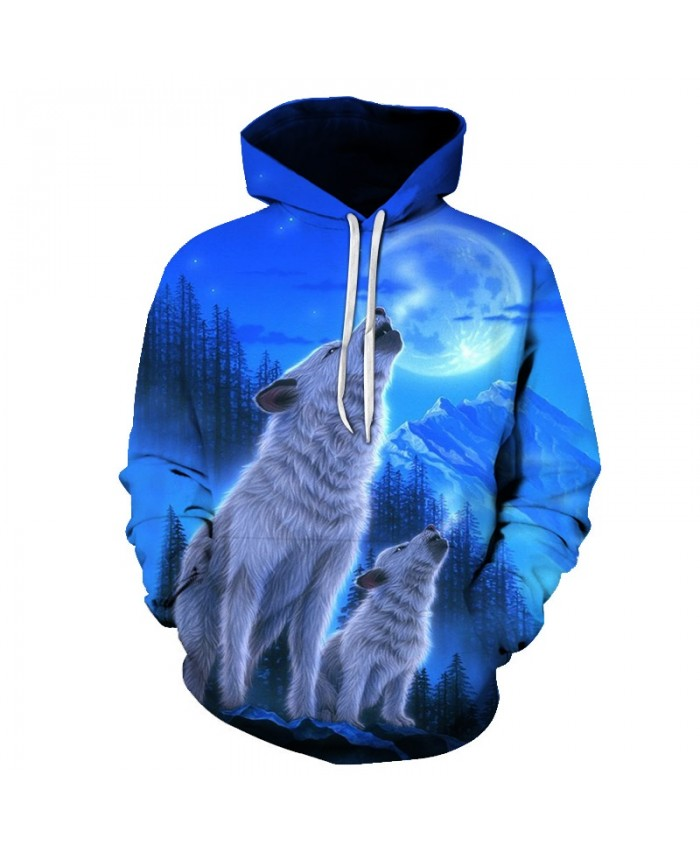 2021 NEW 3D Wolf Hoodies Men Print Sweatshirt With Hood Tracksuit New Pullover Hooded Autumn Coat Hoody Drop Ship