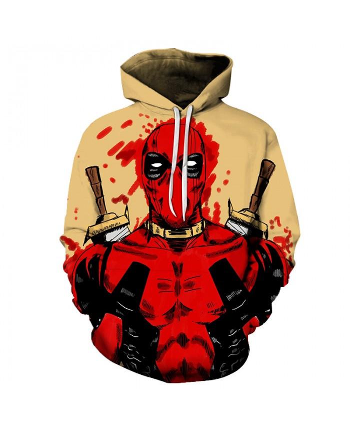 2021 New 3D Print Super Hero Deadpool Hoodie Casual Hoodie Sportswear Hooded Sweatshirt Classic Anime Character Hoodie 20 style