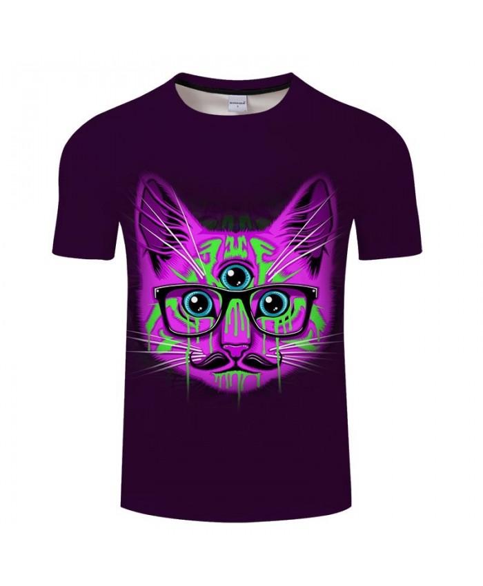 2019 New 3D Printed Green Tears Cat Men tshirt Crossfit Shirt Casual Summer Short Sleeve Male tshirt Brand Men