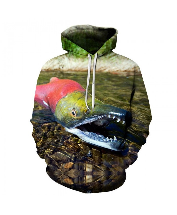 2019 New 3D Printed Red Crocodile Pullover Sweatshirt Clothing for Men Custom Pullover Hoodie Casual Hoodies Men