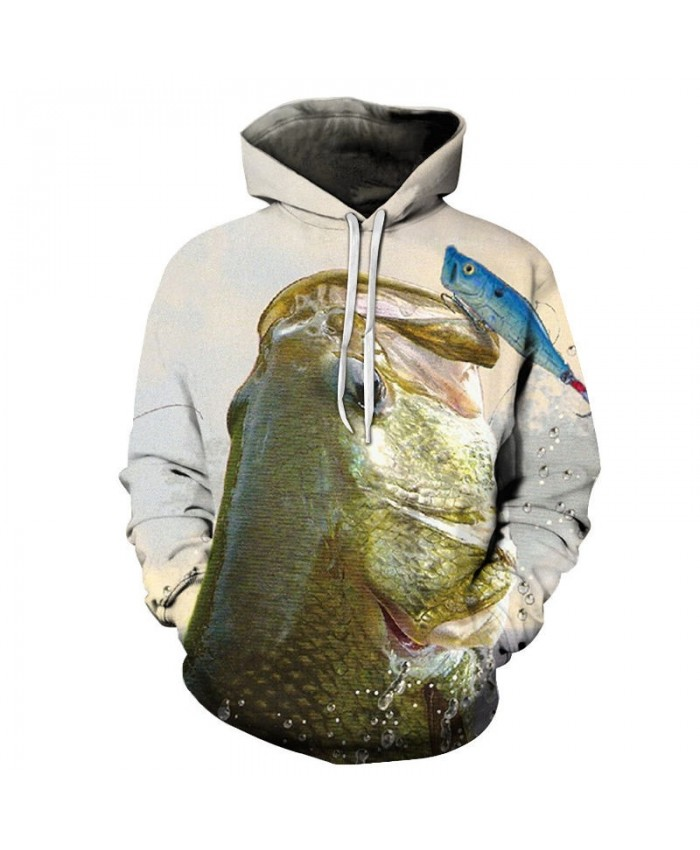 2021 New 3D Printed There Are Small Fsh On The Big Fish Pullover Sweatshirt Clothing for Men Custom Pullover Hoodie