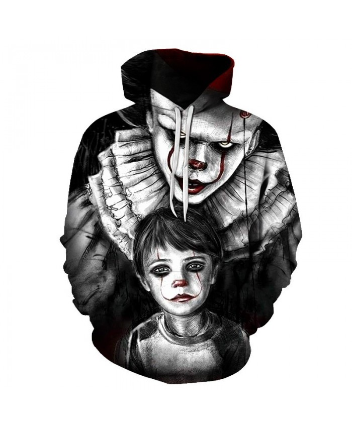 2019 New Arrival Horror Movie Character Chucky 3D Printed Fashion Hoodies Men Women Casual Clown Streetwear Hooded Sweatshirt